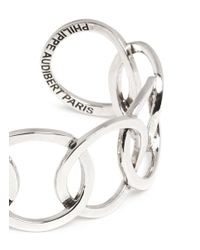 Philippe Audibert | Metallic 'columbus' Cutout Chain Link Cuff | Lyst