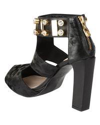 Kat Maconie | Black Chloe Jewelled Heels | Lyst