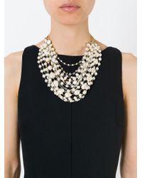 Rosantica | Metallic Pearl Necklace | Lyst