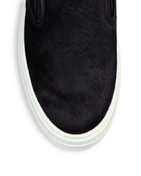 Ferragamo - Black Pacau Calf Hair Skate Sneakers - Lyst