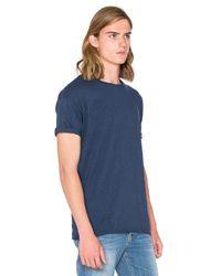 Nudie Jeans Blue Slub T Shirt for men