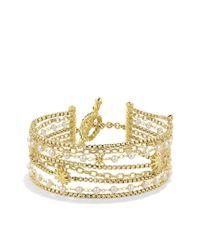 David Yurman - Metallic Starburst Chain Bracelet With Pearls In 18k Gold - Lyst