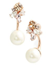 kate spade new york | Metallic 'dainty Sparklers' Drop Back Earrings - Neutral Multi | Lyst