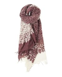 Toast | Purple Tonal Indian Print Scarf | Lyst