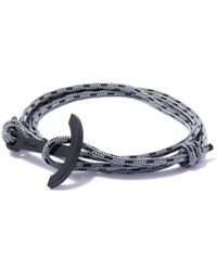 Miansai Gray Rope And Anchor Bracelet for men