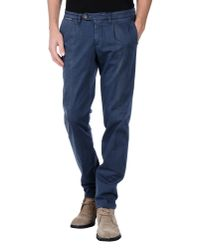 Eleventy | Blue Casual Trouser for Men | Lyst