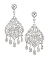 Adriana Orsini | Metallic Filigree Chandelier Earrings/silver | Lyst