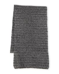 Portolano | Gray Two-Tone Ribbed Knit Scarf for Men | Lyst