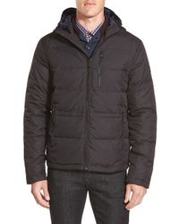 Michael Kors | Black 'hipster' Hooded Down Coat for Men | Lyst