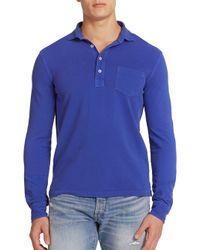 Polo Ralph Lauren | Blue Featherweight Mesh Estate Long-sleeve Polo for Men | Lyst
