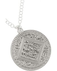 Monica Vinader | Metallic Marie Sterling Silver Disc Necklace | Lyst