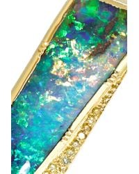 Brooke Gregson - Metallic 18-karat Gold, Opal And Diamond Necklace - Lyst