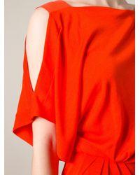 Vionnet Red Draped Dress