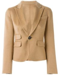 DSquared² - Natural Cropped Camel Hair Jacket  - Lyst