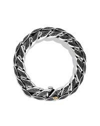 David Yurman | Black Curb Chain Wide Bracelet for Men | Lyst