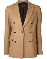 Rag & Bone - Brown Classic Wool Blazer - Lyst