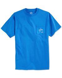 Guy Harvey | Blue Chainsaw Pocket T-shirt for Men | Lyst