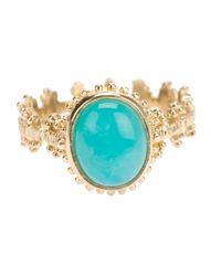Zoe & Morgan Metallic Kirst Amazonite Ring