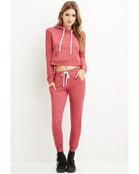 Forever 21 | Red Classic Marled Joggers | Lyst