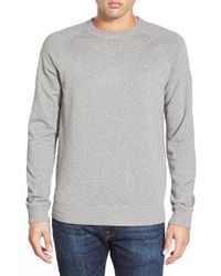 BOSS Orange | Gray 'wheel' Terry Knit Raglan Crewneck Sweatshirt for Men | Lyst