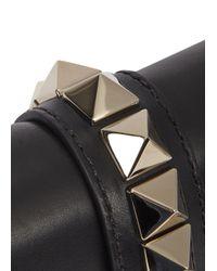 Valentino Rockstud Lock Small Black Shoulder Bag
