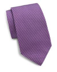 Saks Fifth Avenue | Purple Mantero Dot Silk Tie for Men | Lyst