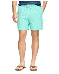 "Brooks Brothers | Green Montauk 6"" Golden Fleece® Solid Swim Trunks for Men 