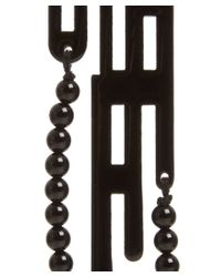 Anna E Alex - Small Black Labirinto Deco Wooden Drop Earring - Lyst