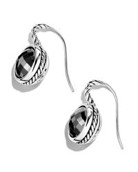 David Yurman Metallic Color Classics Drop Earrings with Hematite