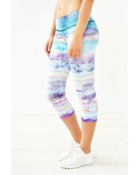 Onzie - Blue Cropped Legging - Lyst
