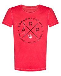 Osklen Red Reversible T-Shirt for men