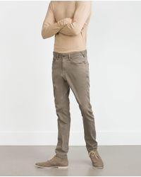 Zara | Gray Super Stretch Trousers for Men | Lyst