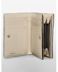 Calvin Klein - Brown White Label Galey Saffiano Leather French Clutch - Lyst