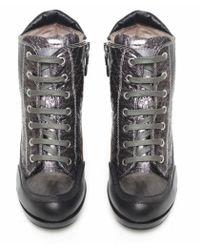 Candice Cooper Gray Python Printed Heels