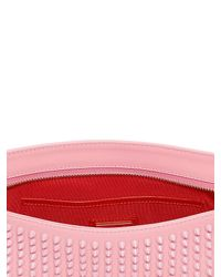 Christian Louboutin Pink Loubiposh Spikes Leather Clutch