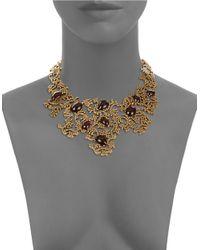Oscar de la Renta | Metallic Filigree Statement Necklace | Lyst