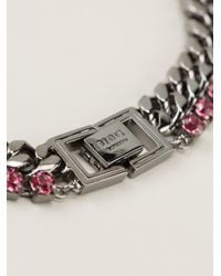 Mawi Pink Embellished Chain Necklace