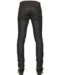 Tom Rebl Black 17.5Cm Stretch Cotton Denim Jeans for men