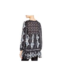 Free People Black Down By The Bay Tunic