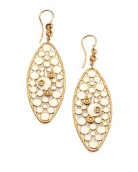 Roberto Coin | Metallic Bollicine Diamond, Enamel & 18k Yellow Gold Oval Drop Earrings | Lyst