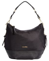 Calvin Klein | Black Large Nylon Hobo | Lyst