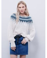 Free People | White Baltic Fairisle Pullover | Lyst
