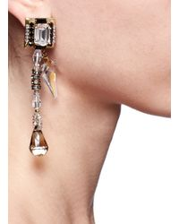 Erickson Beamon - White 'velocity' Crystal Drop Earrings - Lyst