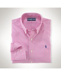 Polo Ralph Lauren Pink Slimfit Gingham Poplin for men