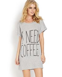 Forever 21 - Gray Morning Coffee Nightdress - Lyst