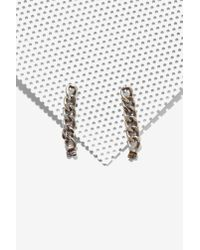 Nasty Gal | Metallic Lena Bernard Hard Rock Jacket Earrings | Lyst