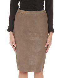 Isabel Marant - Natural Devon Leather Pencil Skirt - Lyst