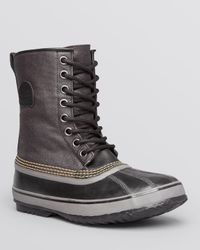 Sorel Black 1964 Premium Waterproof Canvas Boots for men