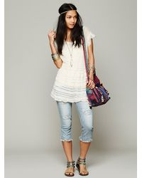 Free People - Natural Womens Doiley Cardi - Lyst