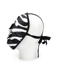 Comme des Garçons Black Zebra Pattern Face Mask for men